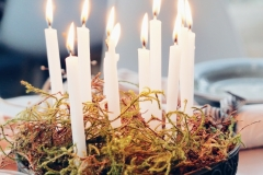 Festive candles styled by Karen Barlow