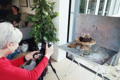 Marie's bundt cake and CBL backdrops