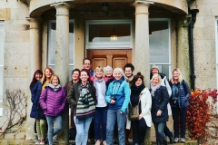 The group in front of Brathay Hall.