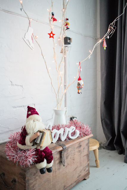 photography studio at Christmas