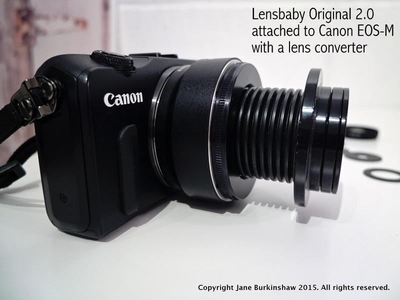 Lens baby attached to Canon EOS-M