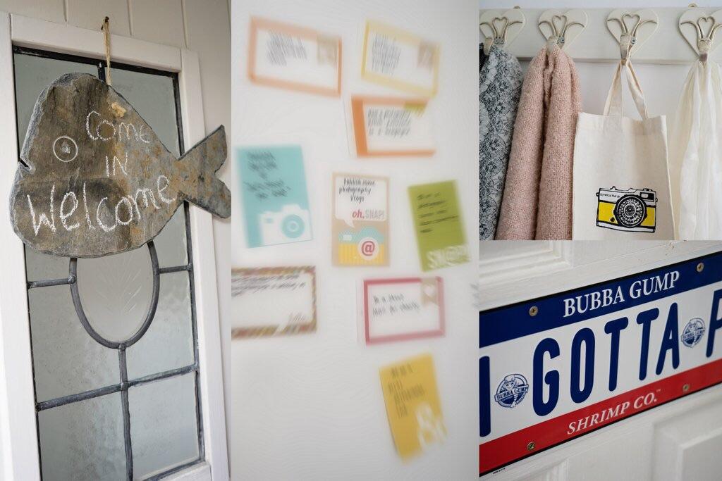 Signs in studio