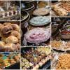 Food market stalls