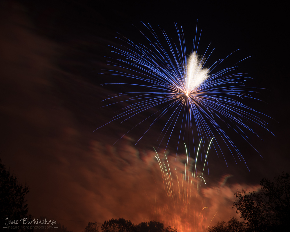 camera settings for fireworks