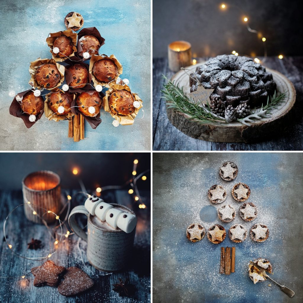 Christmas food styling